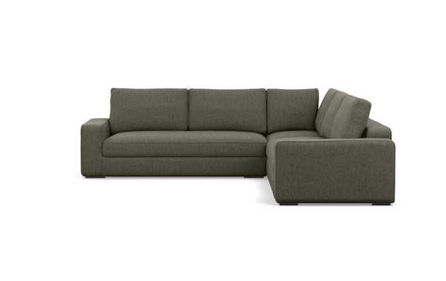 Ainsley Corner Sectional with Mushroom Fabric and Matte Black legs - Interior Define