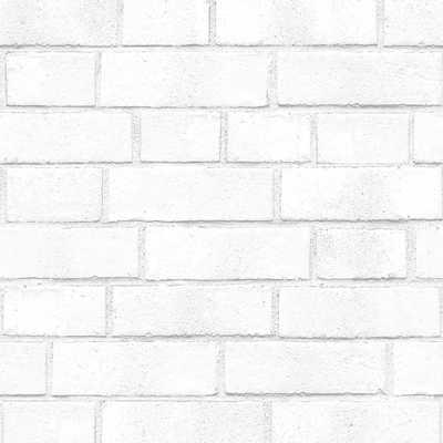 White Brick Wallpaper - Home Depot