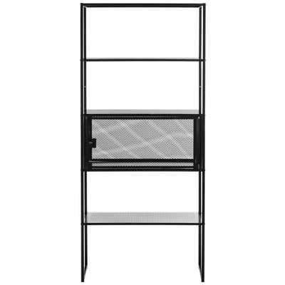 Safavieh Abay Black Bookcase - Home Depot