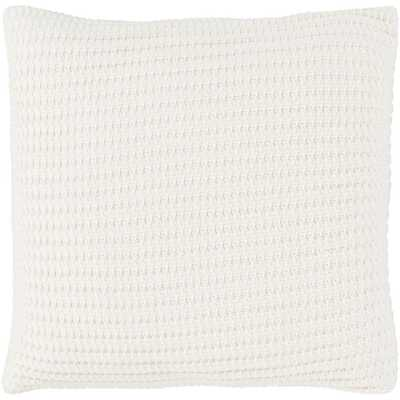 Lesley Poly Euro Pillow, Ivory - Home Depot