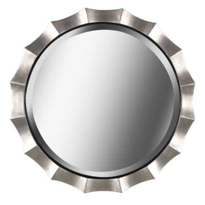 Round Silver Wall Mirror - Wayfair