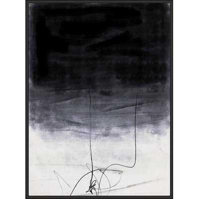 'Abstract Black 1' Framed Graphic Art Print on Canvas - Wayfair