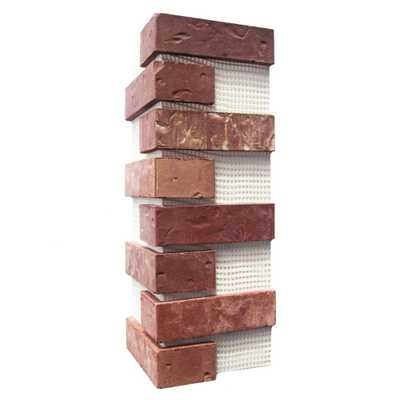 Old Mill Brick Independence Brickweb Thin Brick Corners, Red - Home Depot