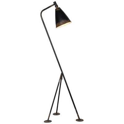Forty West Jennings Rustic Black Tripod Floor Lamp - Style # 69X84 - Lamps Plus