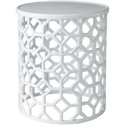 Athina White Accent Table - Home Depot