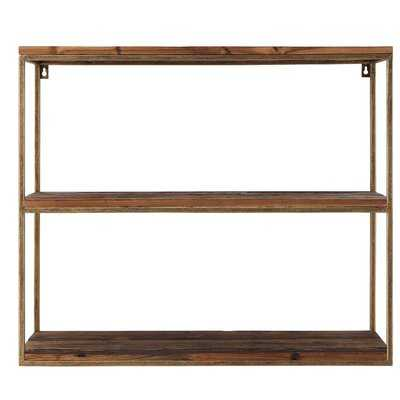 Iniguez Wood/Metal Wall Shelf - Wayfair