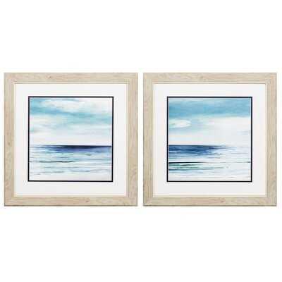 'Blue Silver Shore' Pk/2 Print - Wayfair