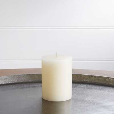 "3""x4"" Ivory Pillar Candle - Crate and Barrel"