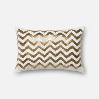 """PILLOWS - GOLD / WHITE - 13"""" X 21"""" Cover Only - Loma Threads"""