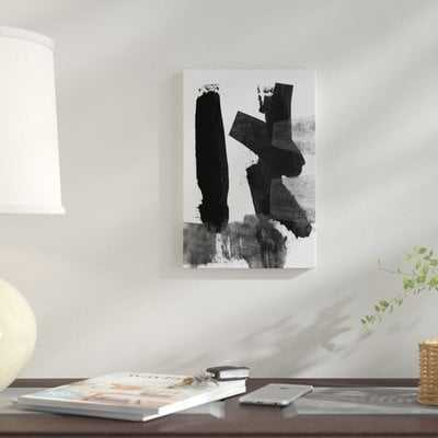 'Brush Stroke III' Print on Canvas - AllModern