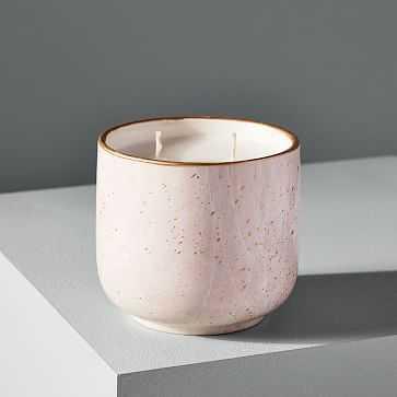 Modern Elements Candle, Small Tumbler, Pink, Rose Quartz, 11 oz - West Elm