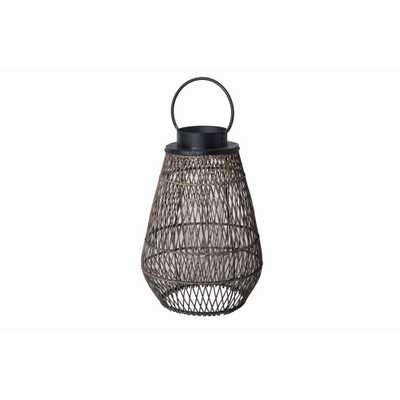Hampton Bay Large Size Outdoor Bamboo Lantern - Home Depot