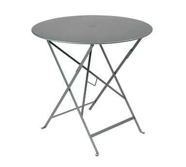 "Fermob Bistro 30"" Round Table, Storm Gray - Pottery Barn"