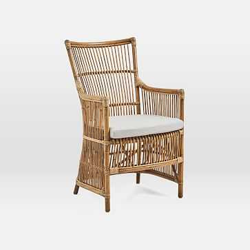 Rattan Chair + Cushion, Antique - West Elm