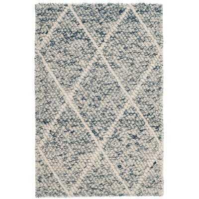Billie Hand-Tufted Ivory/Blue Area Rug - Wayfair