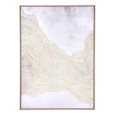 'Gentle' Framed Graphic Art Print on Canvas - Wayfair