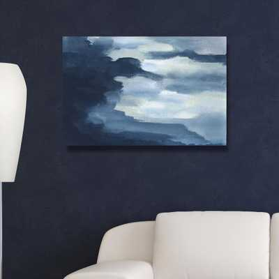 30 in. x 45 in. 'Waterfalls' by Oliver Gal Printed Framed Canvas Wall Art - Home Depot