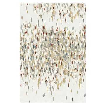Paint Palette Rug, Cayenne, 6'x9' - West Elm