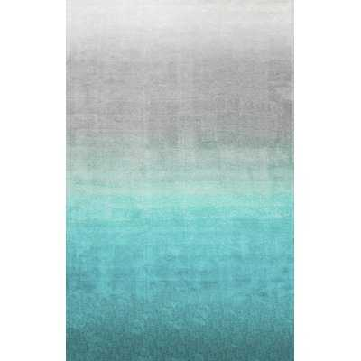 Thomason Hand-Tufted Turquoise/Gray Area Rug - AllModern