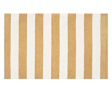 Rugby Custom Rug, 6x9', Yellow/White - Pottery Barn Kids