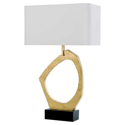 Bradshaw Modern Classic Gold Abstract Table Lamp - Kathy Kuo Home