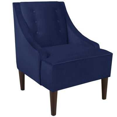 Side chair - Navy Velvet - Wayfair