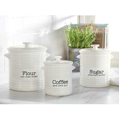 Farmhouse Inspired 3 Piece Kitchen Canister Set - Birch Lane