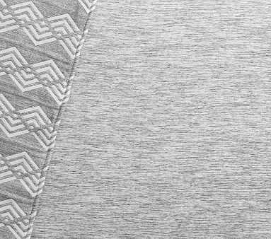 Organic Jersey Space Dyed Crib Fitted Sheet, Gray - Pottery Barn Kids