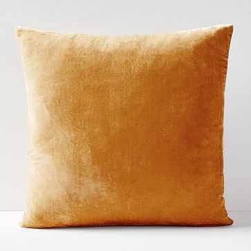 """Lush Velvet Pillow Cover, Golden Oak, 24""""x24"""" - West Elm"""