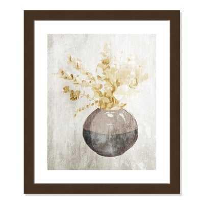 'Yellow Flowers In Vase II' Framed Acrylic Painting Print - Wayfair