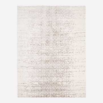 Foil Diamonds Distressed Rug, Platinum - West Elm