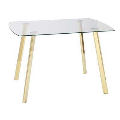 Uptown Dining Table Glass/Gold Metal - Buylateral - Target