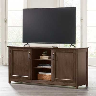"""Ainsworth Cocoa 64"""" Media Console with Glass/Wood Doors - Crate and Barrel"""