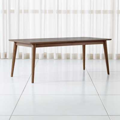 Tate Walnut Midcentury Dining Table - Crate and Barrel