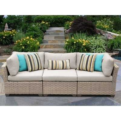 Rochford Patio Sofa with Cushions - Wayfair