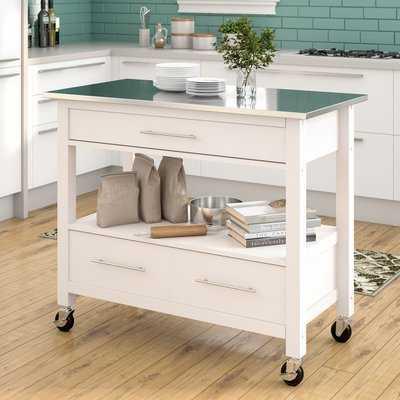 Monongah Rectangular Kitchen Cart with Stainless Steel Top - AllModern