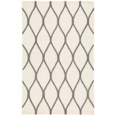 Snow White 5 ft. x 8 ft. Geometric Area Rug - Home Depot
