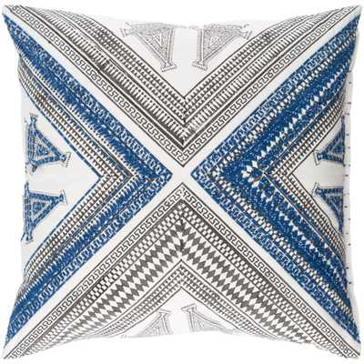 Dunmaston Poly Euro Pillow, Blues - Home Depot