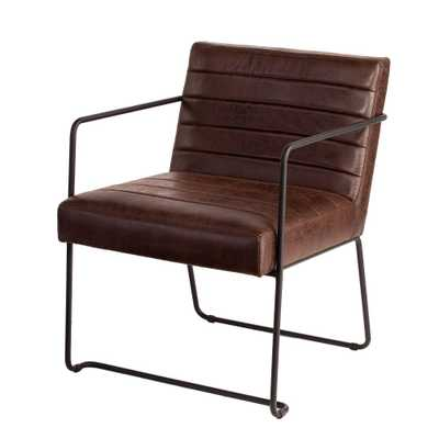 Kentwood Faux Leather Accent Chair Brown - Aiden Lane - Target