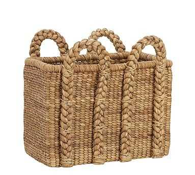 Beachcomber High Rectangular Basket - Pottery Barn