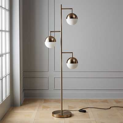 Orbs Champagne Floor Lamp - CB2