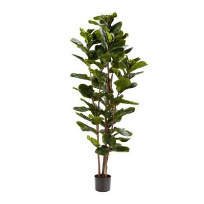 Pure Garden 72 in. Artificial Fiddle Leaf Fig Tree - Home Depot