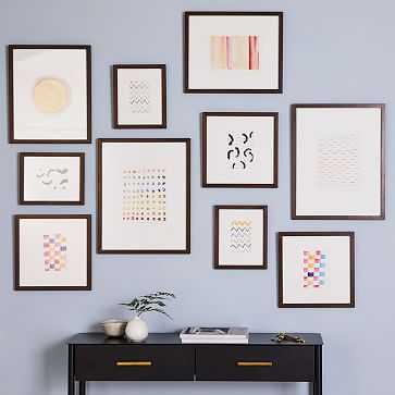 Gallery Frames, Walnut Wood, Set of 10 - West Elm