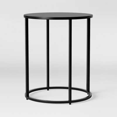 Glasgow Round Metal End Table Black - Project 62 - Target