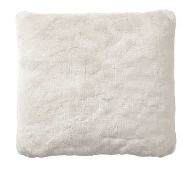 "Faux Fur Pillow Cover, 18"", Ivory Alpaca - Pottery Barn"