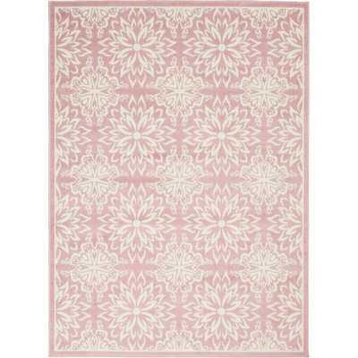 Boggess Floral Ivory/Pink Area Rug - Wayfair