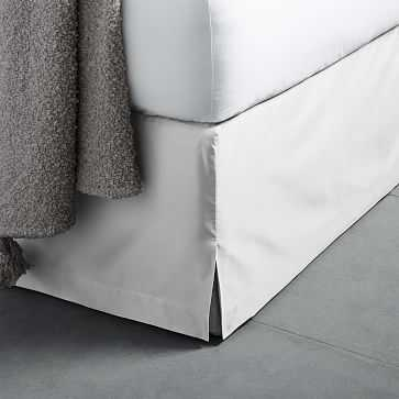 400 Thread Count Organic Sateen Bed Skirt, Queen, White - West Elm