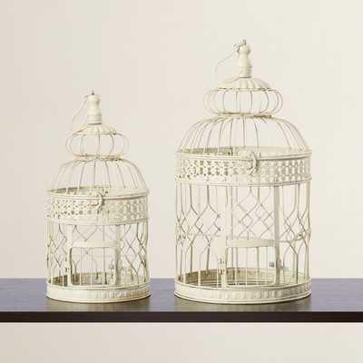 Padula 2 Piece Decorative Metal Bird Cage Set - Birch Lane