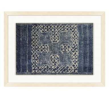 Indigo Batik Framed Paper Print, #2 - Pottery Barn
