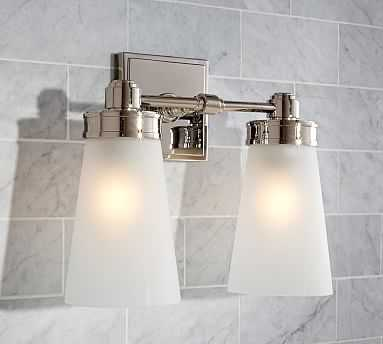 Pearson Sconce, Double, Polished Nickel finish - Pottery Barn